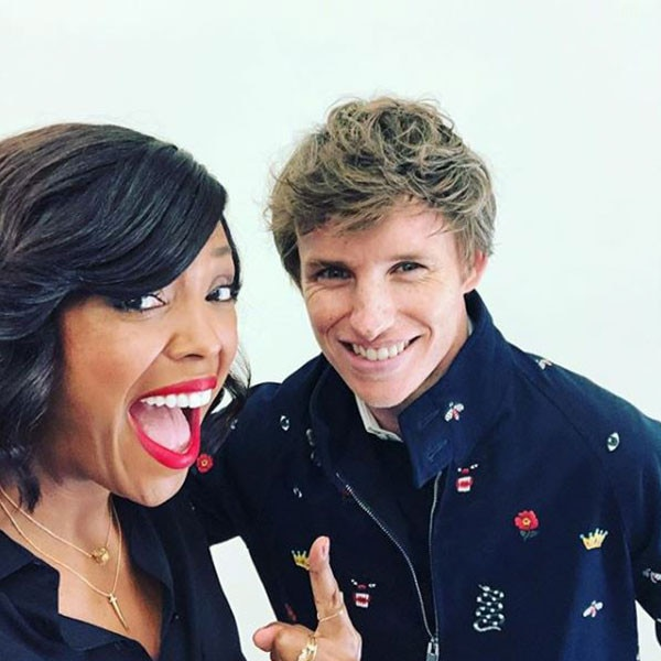 Aisha Tyler & Eddie Redmayne -  Celebs can be star-struck too! Aisha shared her excitement at running into the  Fantastic Beasts  star during the weekend.
