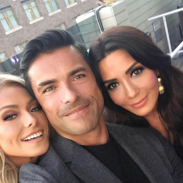 Kelly Ripa, Mark Consuelos & Marisol Nichols -  The  Riverdale  star posed alongside his TV wife and real-life wife at the convention in this adorable shot.