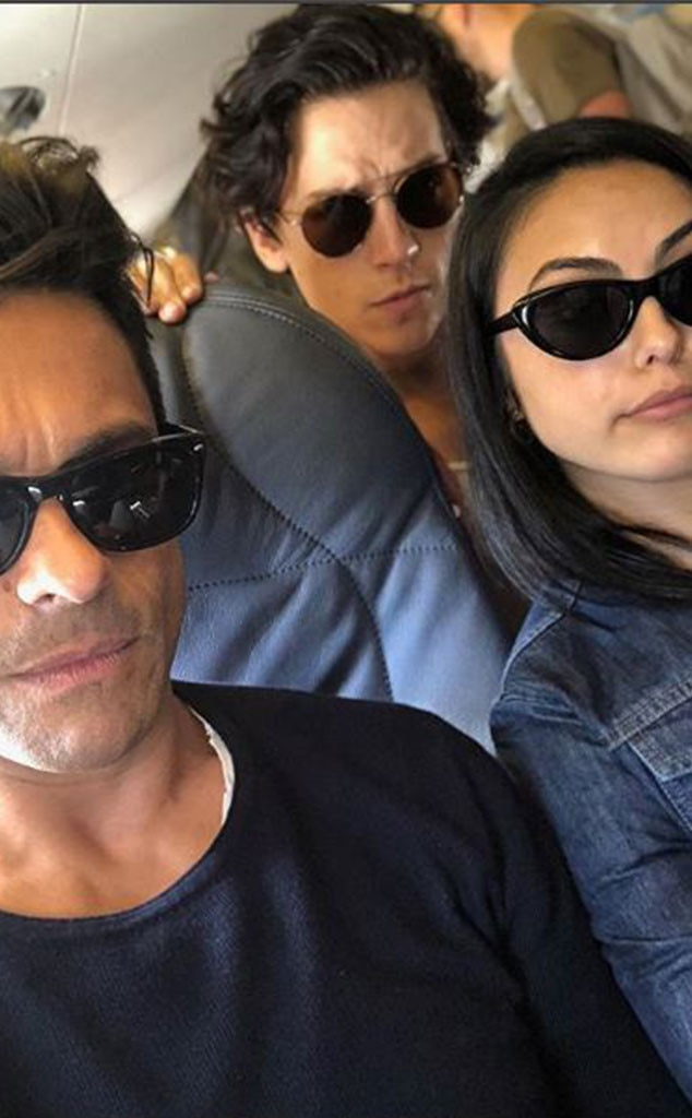 "Mark Consuelos, Camila Mendes and Cole Sprouse -  Kelly Ripa almost broke the internet when she shared this photo of her husband with his  Riverdale  castmates writing, ""The kids are getting so big #daddy."""
