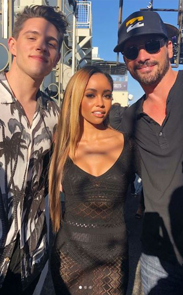 "Vanessa Morgan, Casey Cott & Skeet Ulrich -  ""Always a good time with these two,"" the  Riverdale  vixen wrote with this shot alongside two of her male co-stars."