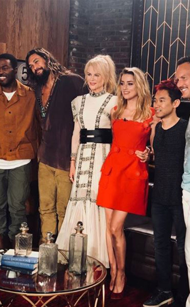 Aquaman  Cast -  The cast of the upcoming film  Aquaman  gathered together for a panel during the convention. Nicole Kidman ,  Amber Heard ,  Jason Momoa  and more stars were in attendance.