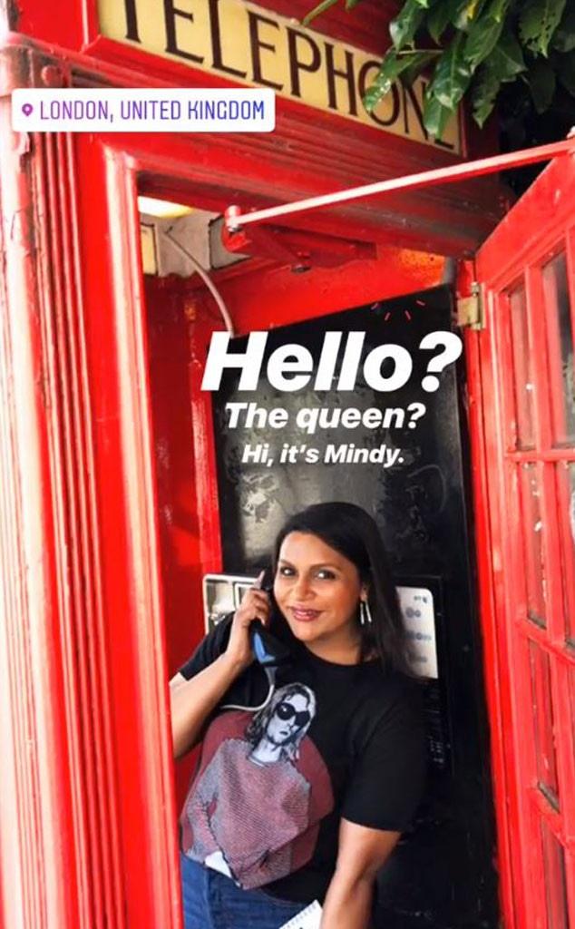 Mindy Kaling, London