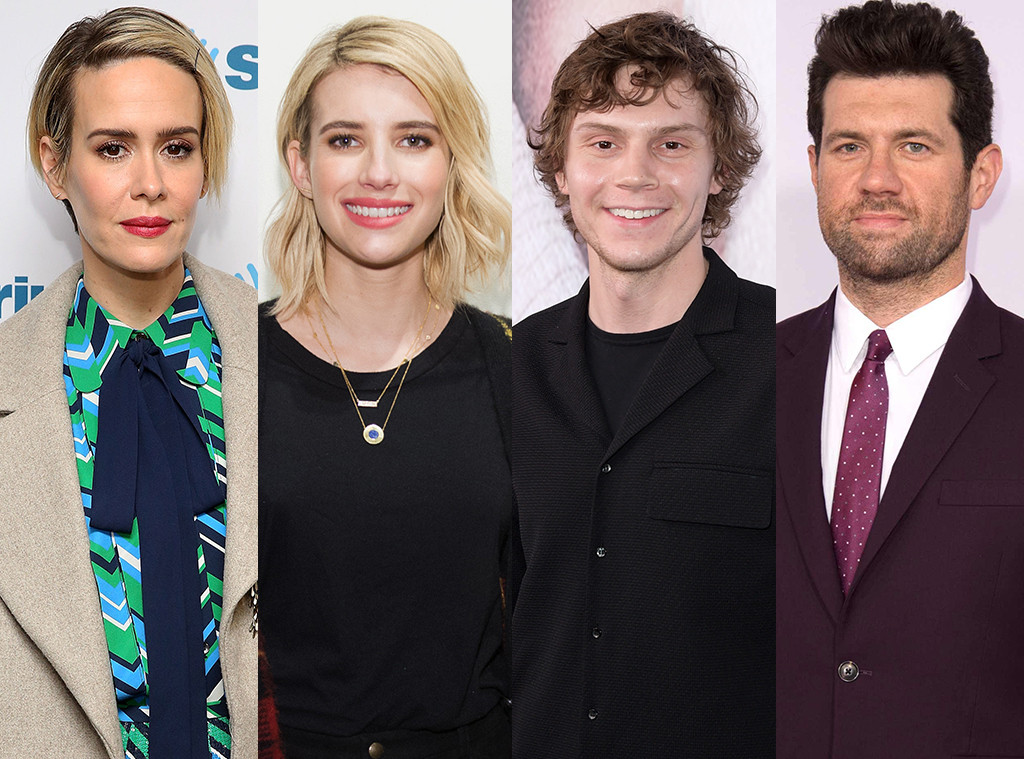 Sarah Paulson, Emma Roberts, Evan Peters, Billy Eichner