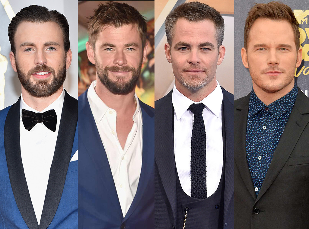 Chris Evans, Chris Hemsworth, Chris Pine, Chris Pratt