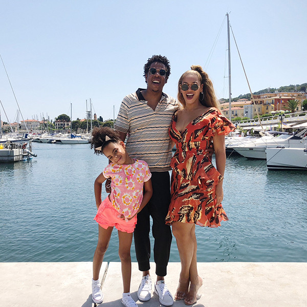 Beyonc 233 And Jay Z Take Blue Ivy Carter Sailing In Cannes E News
