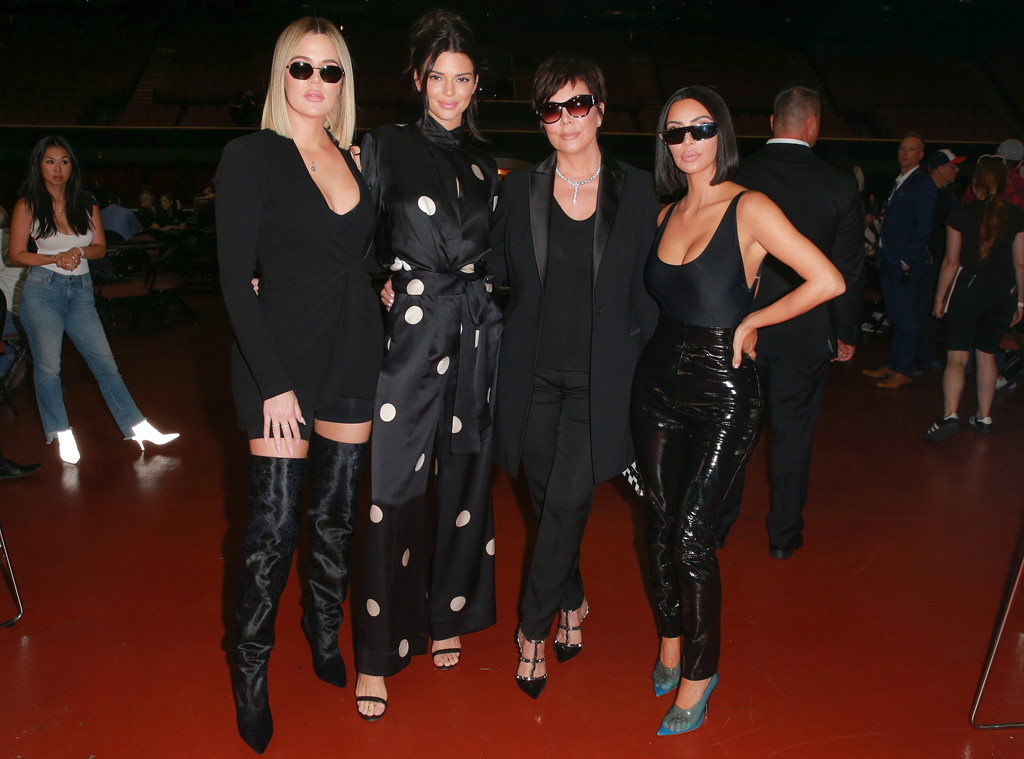 Khloe Kardashian, Kendall Jenner, Kris Jenner, Kim Kardashian, Poker Charity Event