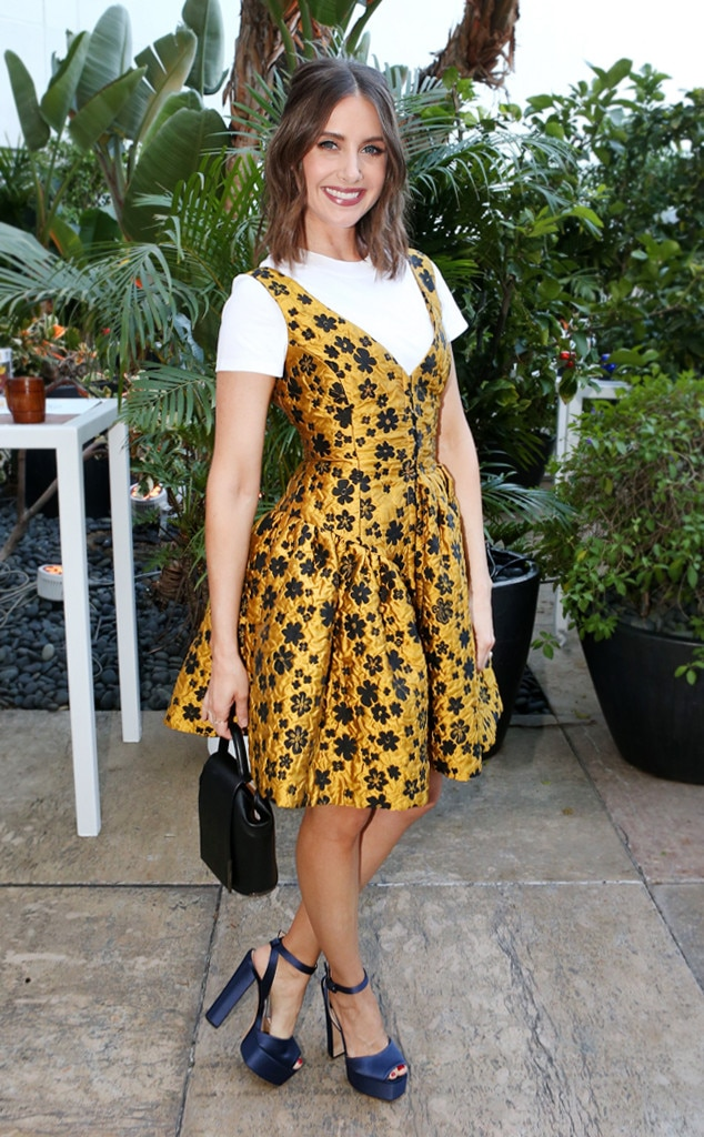 How to Wear Shirts Under Dresses Like Alison Brie   E! News