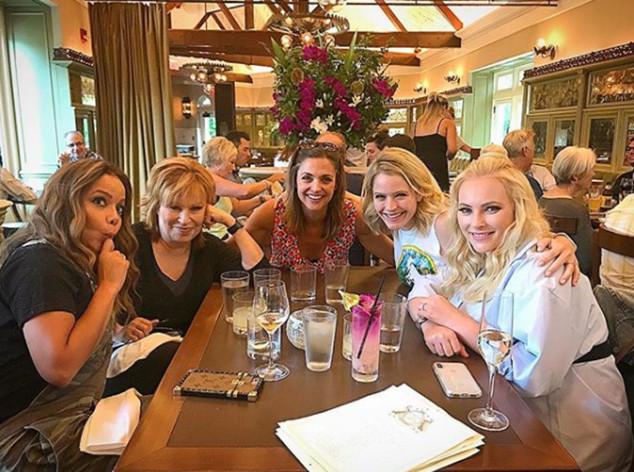 Meghan McCain, Joy Behar, Sara Haines, Sonny Hostin, Paula Faris