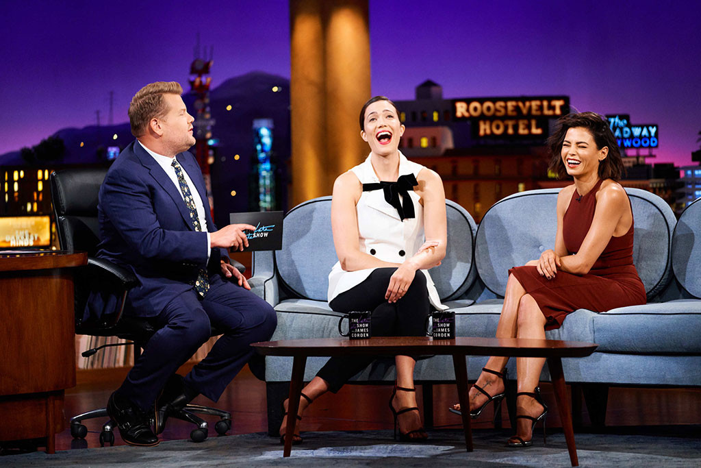 Mandy Moore, Jenna Dewan, The Late Late Show