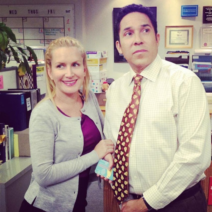 The Office S Angela And Oscar Recreate Show S Fire Drill Scene E Online