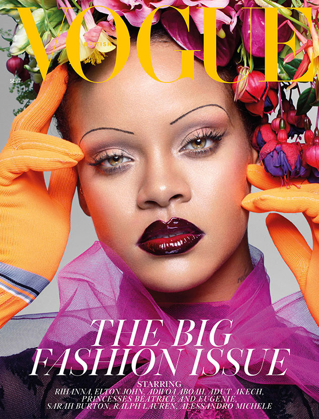 Rihanna Ditches Her Eyebrows For The September Issue Of