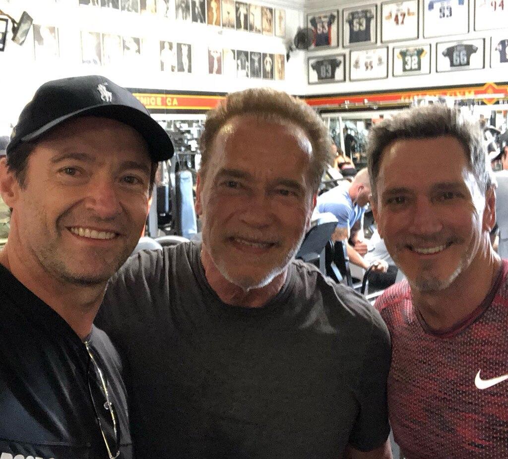 Hugh Jackman, Arnold Schwarzenegger, Fourth of July 2018