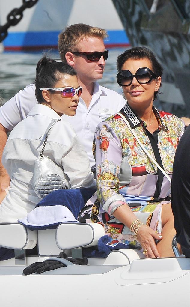 Kris Jenner, Kourtney Kardashian, Portofino