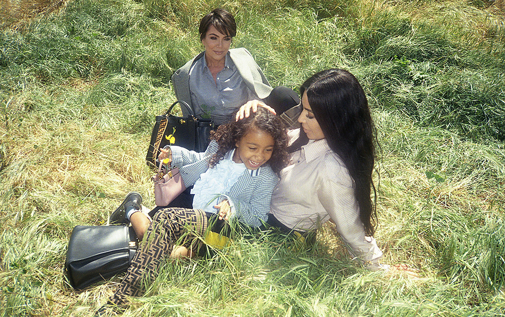 Kim Kardashian, Kris Jenner, North West, Fendi