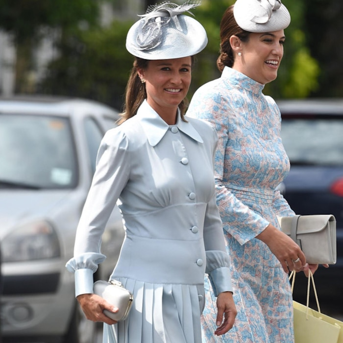 Pregnant Pippa Middleton Dons Baby Blue Dress At Prince Louis