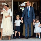 Royal Family Members Attend Prince Louis' Christening