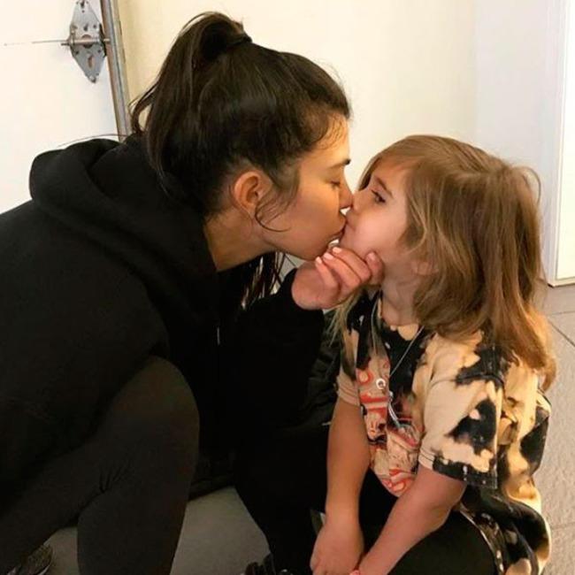 Kourtney Kardashian, Penelope Disick,, Mother-Daughter