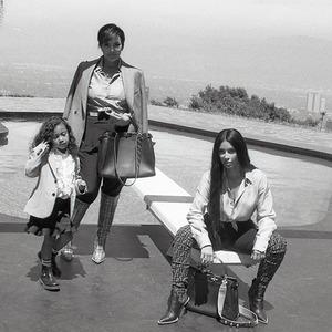 Kim Kardashian, Kris Jenner, North West, Fendi