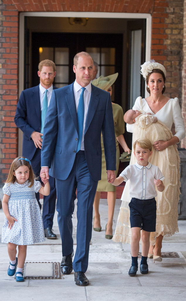 Prince Louis, Kate Middleton, Prince William, Princess Charlotte, Prince George, Prince Harry, Meghan Markle, Christening