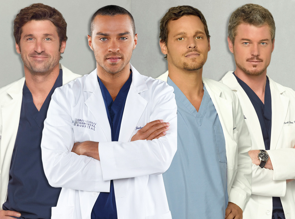 Grey's Anatomy Hotties, Jesse Williams, Patrick Dempsey, Eric Dane