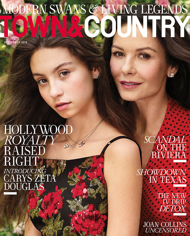 Catherine Zeta-Jones, Carys Zeta Douglas, Town & Country, September 2018
