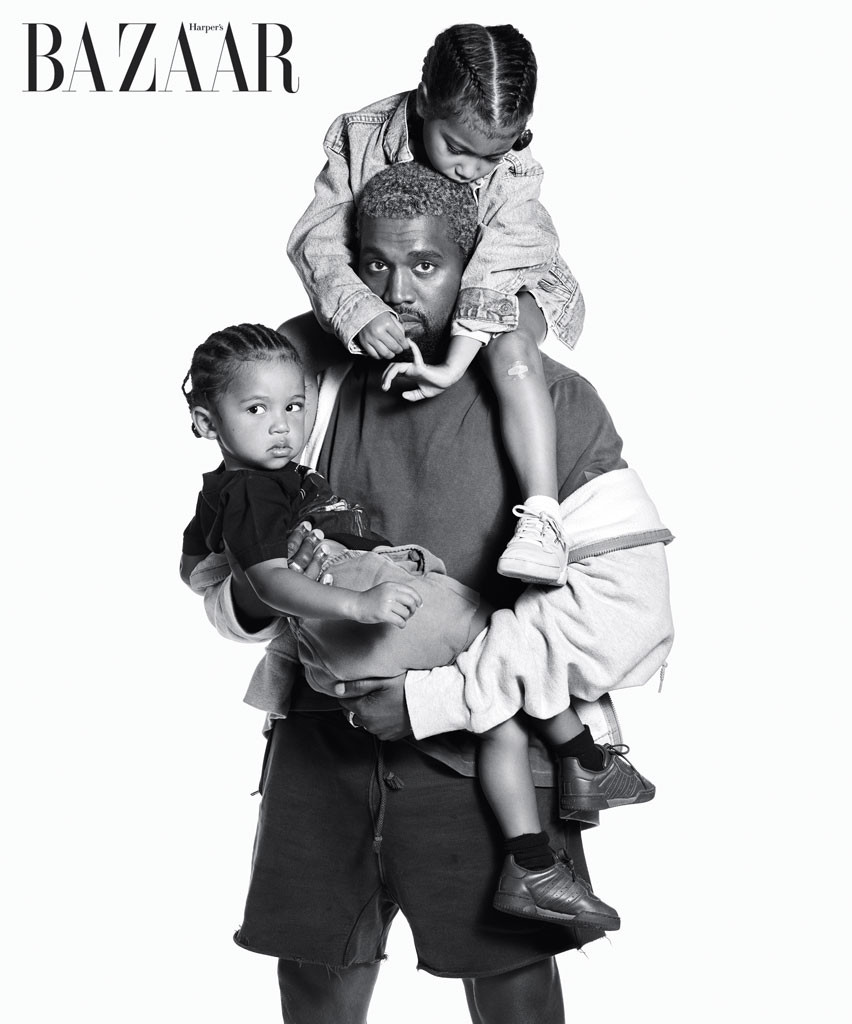 Harper's Bazaar, Kanye West, North West, Saint West