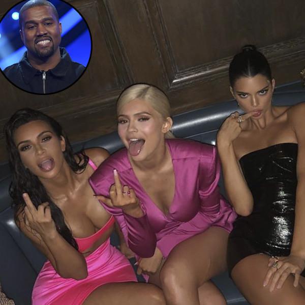 Kanye West, Kim Kardashian, Kourtney Kardashian, Kylie Jenner, Kendall Jenner
