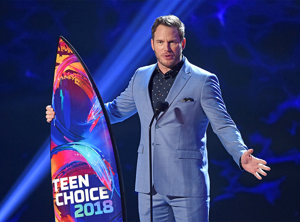 Chris Pratt, 2018 Teen Choice Awards, Show, Winners