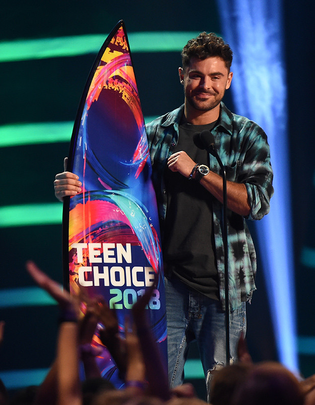 Zac Efron, 2018 Teen Choice Awards