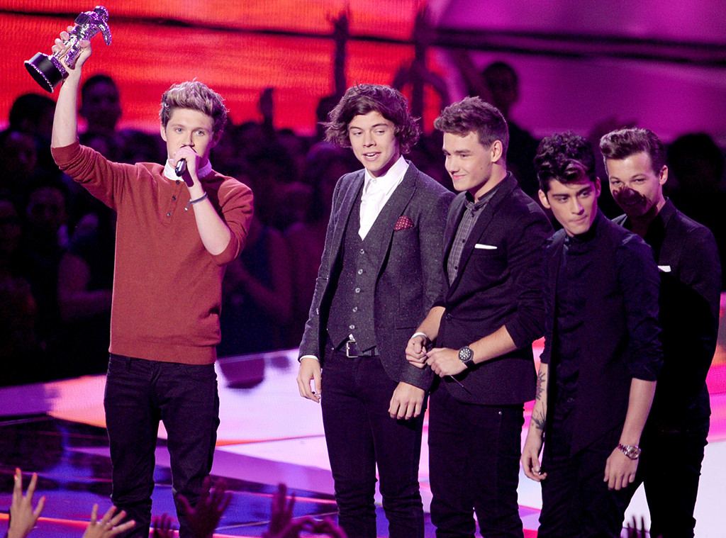 MTV Video Music Awards, Niall Horan, Louis Tomlinson, Liam Payne, Zayn Malick, Harry Styles of One Direction