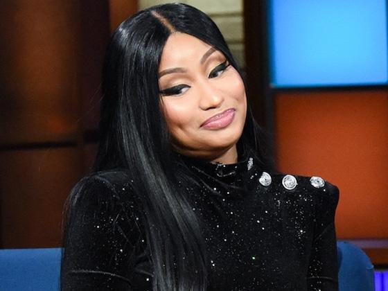 Flirty Nicki Minaj Makes Stephen Colbert Forget He's Married