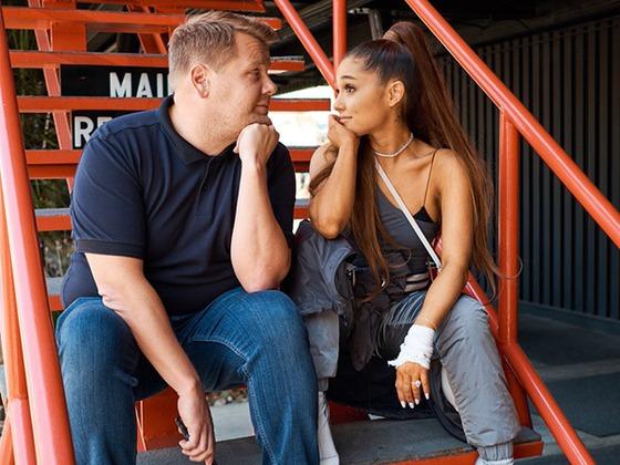 Ariana Grande Rides James Corden to Starbucks on Carpool Karaoke