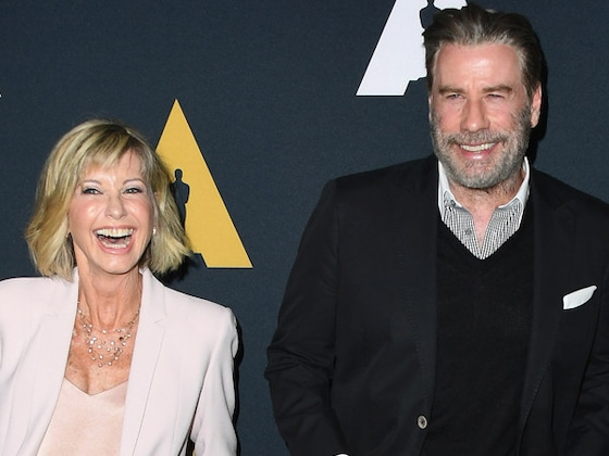 John Travolta and Olivia Newton Reunite for <i>Grease</i> 40th Anniversary Celebration