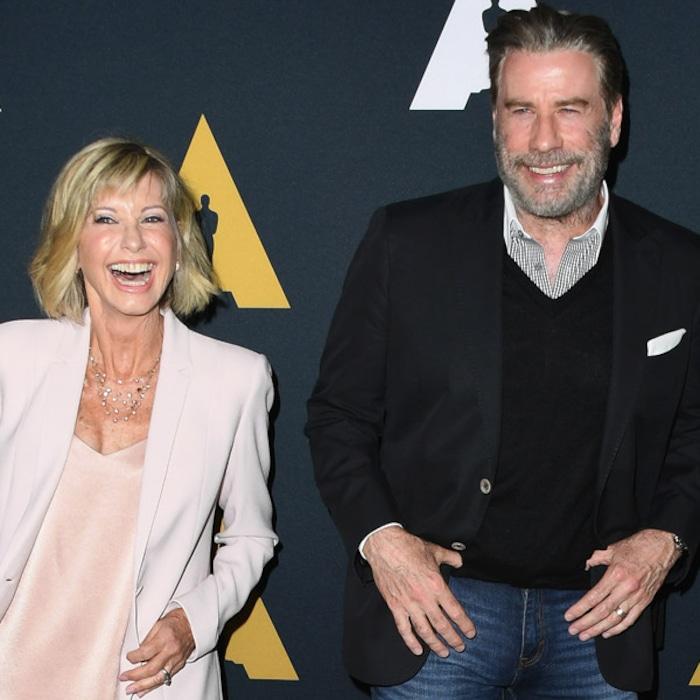 John Travolta and Olivia Newton Reunite for Grease 40th Anniversary ...