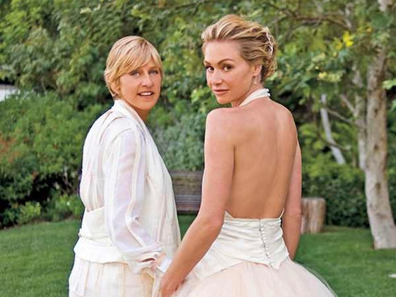 Ellen DeGeneres and Portia de Rossi Share Wedding Day Footage on 10th Anniversary