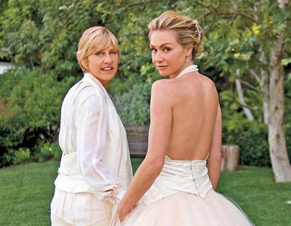 Ellen And Portia Wedding.Ellen Degeneres And Portia De Rossi Share Wedding Day Footage On
