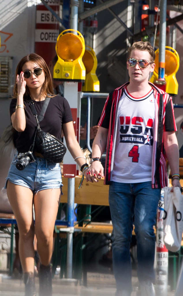 Macaulay Culkin And Brenda Song Take Their Romance To Berlin For Private Getaway E News Uk