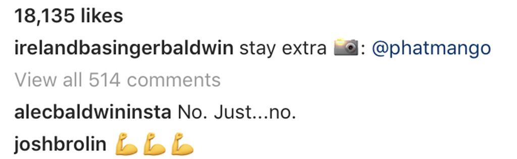Ireland Baldwin, Alec Baldwin, Instagram
