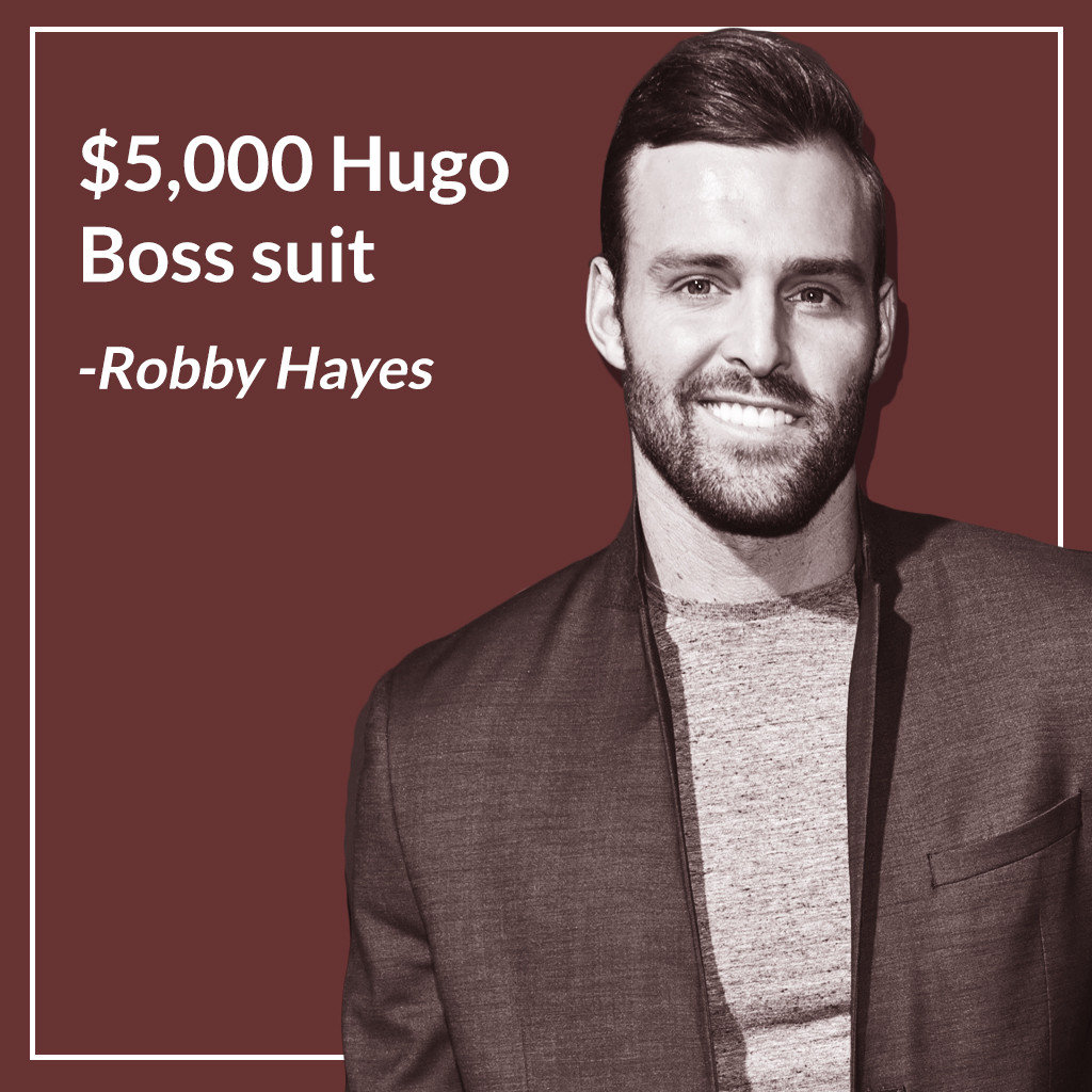 Robby Hayes, Bachelor Nation, Most Expensive Purchases