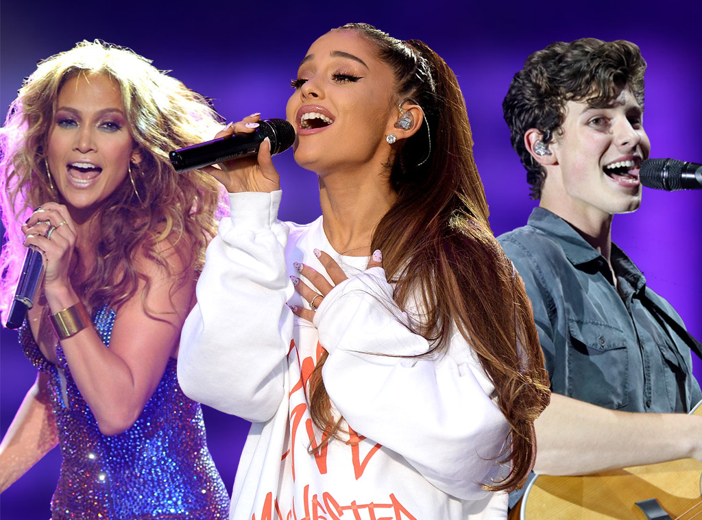 Jennifer Lopez, Ariana Grande, Shawn Mendes, 2018 VMAs performers