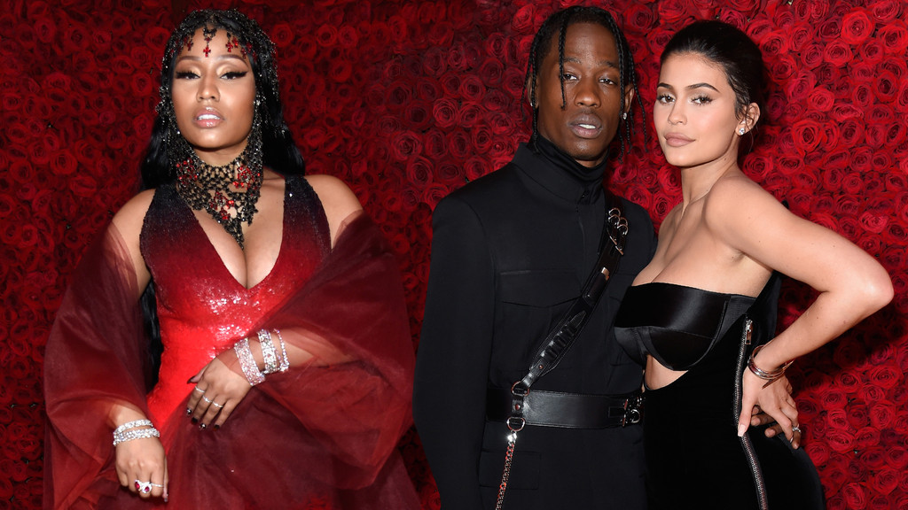 Nicki Minaj, Travis Scott, Kylie Jenner
