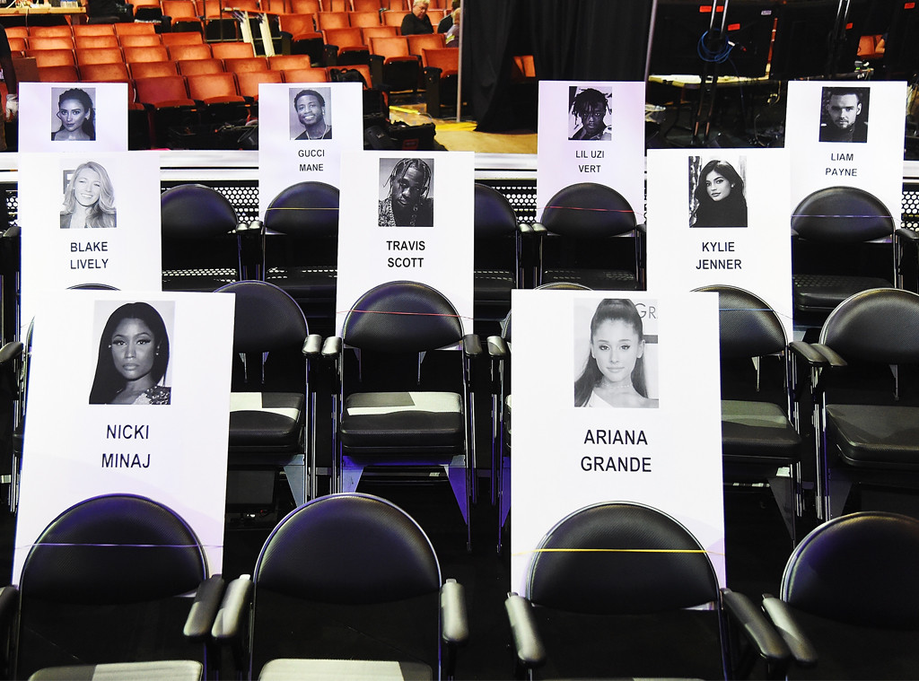 MTV VMAs, MTV VMA seating chart, 2018 MTV VMAs