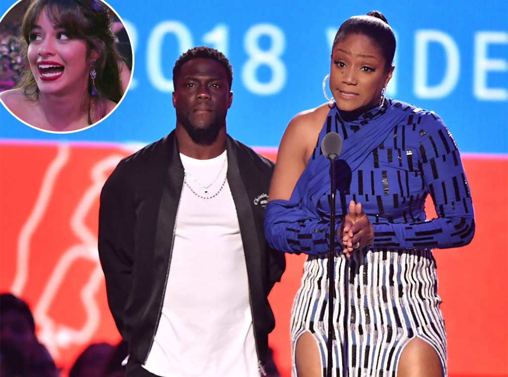 Kevin Hart, Tiffany Haddish, Camila Cabello, 2018 MTV Video Music Awards