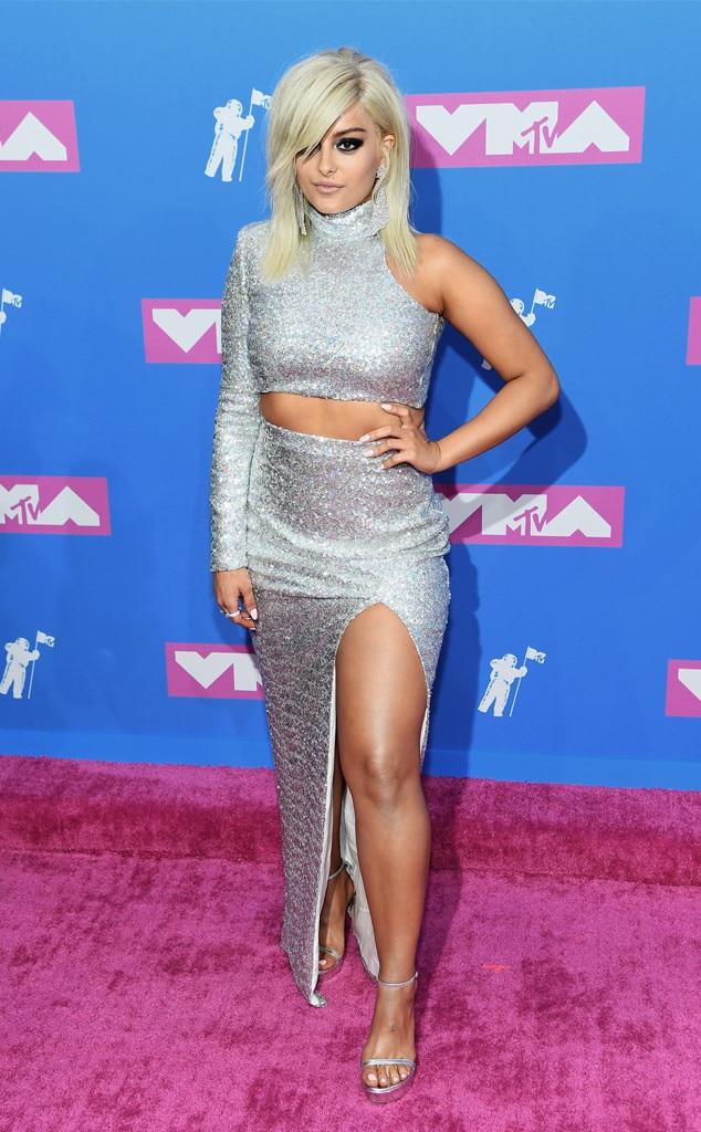 Rezultat slika za video music awards 2018 red carpet bebe rexha