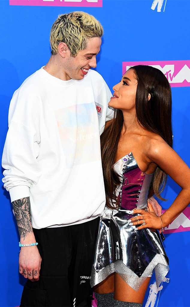 Ariana Grande and Pete Davidson Make Red Carpet Debut at ...