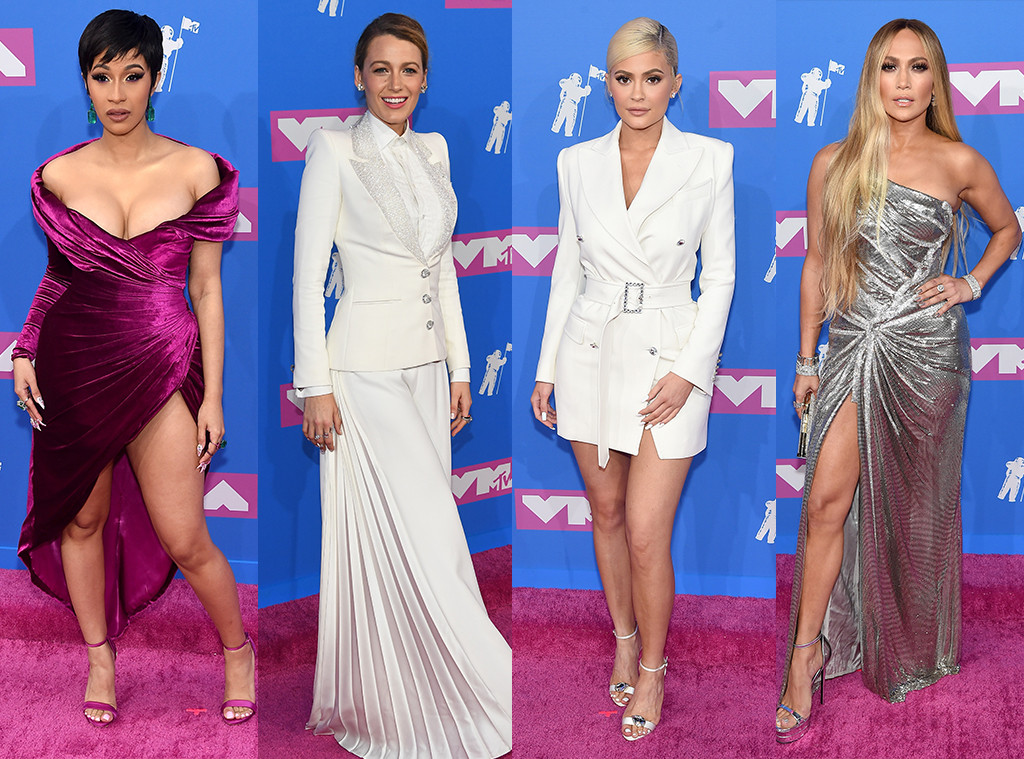 Cardi B, Blake Lively, Kylie Jenner, Jennifer Lopez, Best Dressed Poll, 2018 MTV Video Music Awards, VMAs