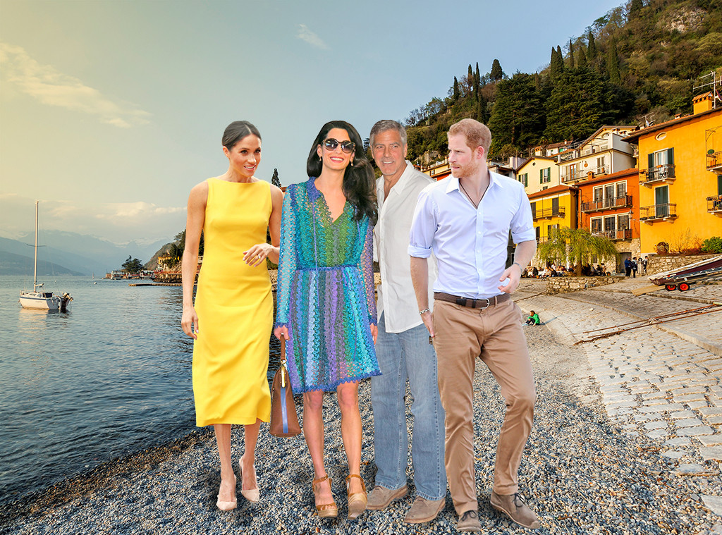 Lake Como, Meghan Markle, Prince Harry, Amal Clooney, George Clooney