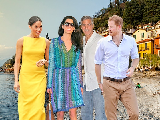Prince Harry and Meghan Markle Visit George and Amal Clooney in Italy