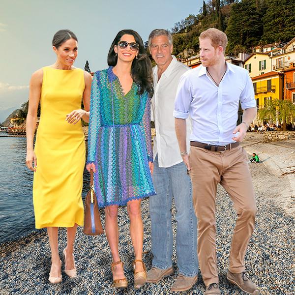 Lake Como, Meghan Markle, Prince Harry, Amal Clooney, George Clooney