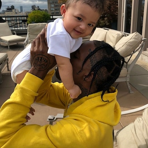 Stormi Webster, Travis Scott, Kylie Jenner